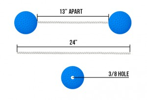 Ladder ball dimensions
