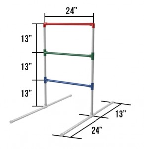 ladder golf dimensions